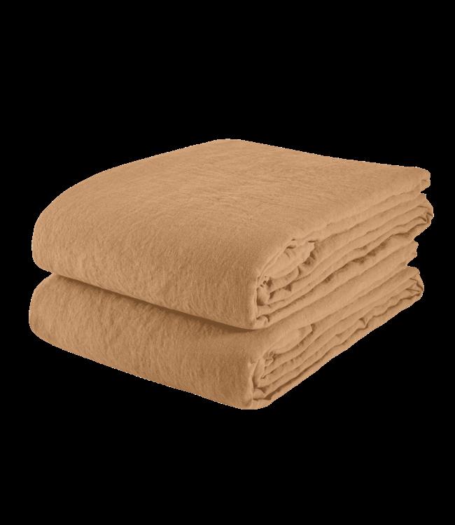 Linge Particulier Flat sheet linen - hazelnut