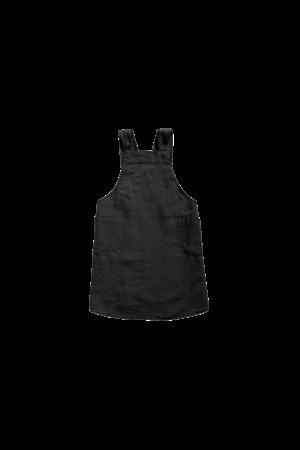 Linge Particulier Keukenschort linnen - zwart