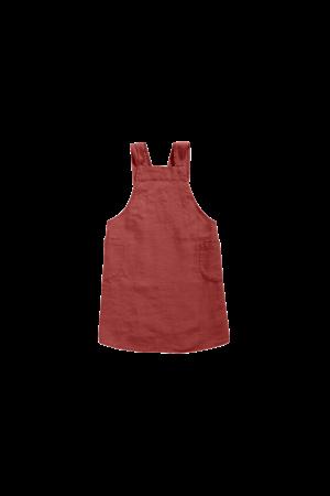 Linge Particulier Keukenschort linnen - carmine red