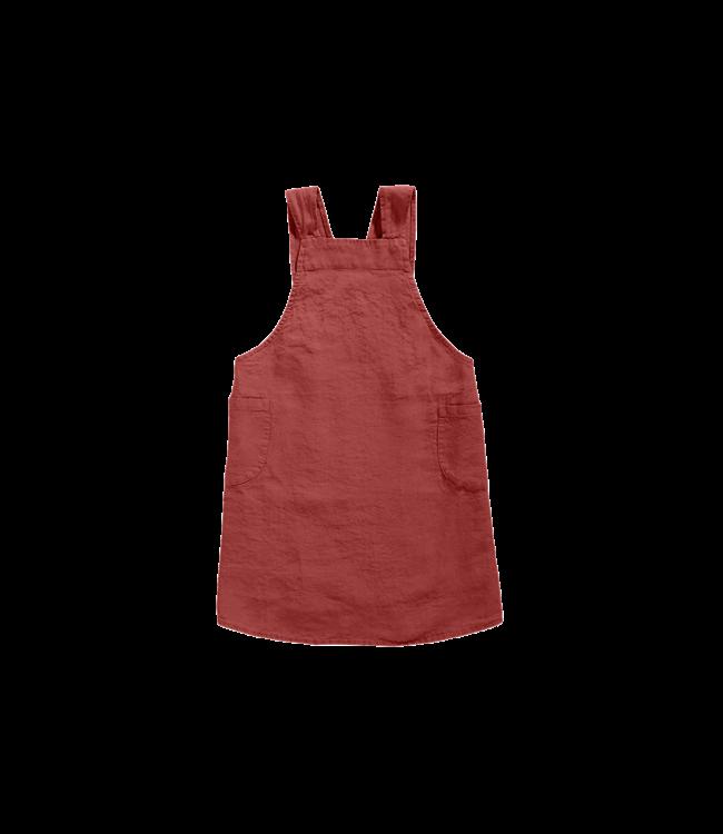 Keukenschort linnen - carmine red