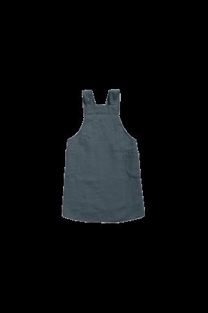 Linge Particulier Japanese apron linen - adult duck blue