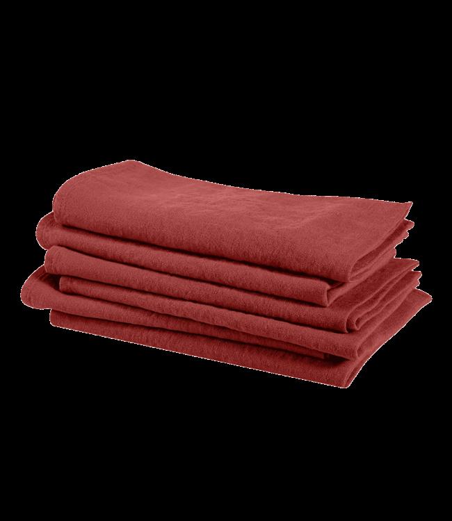 Napkin linen - carmine red