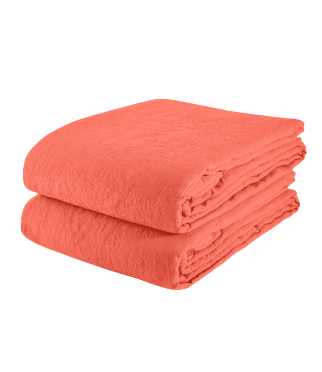 Linge Particulier Tablecloth linen - terracotta