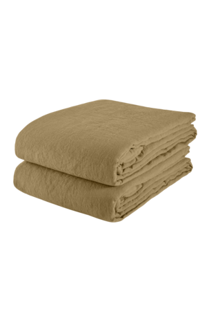 Linge Particulier Tablecloth linen - curry