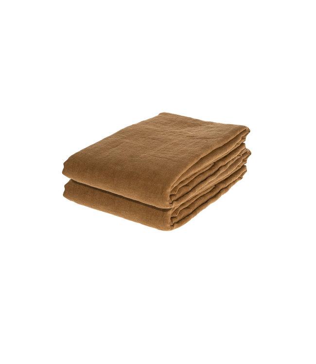 Tablecloth linen - mustard