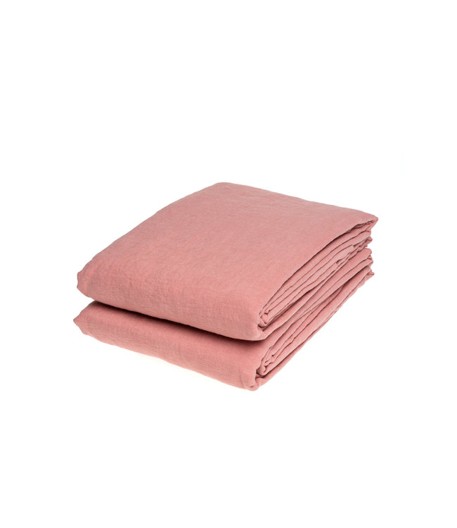 Linge Particulier Tablecloth linen - lychee