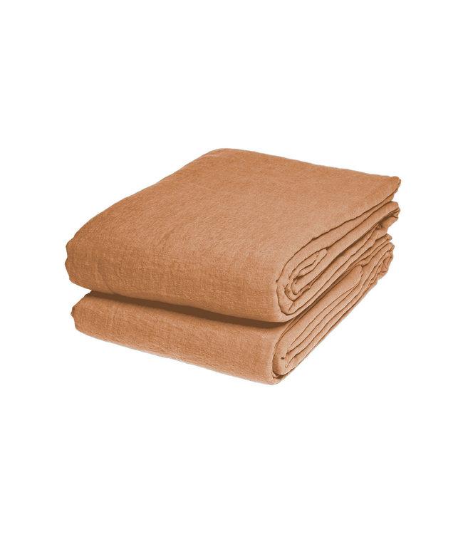 Tablecloth linen - hazelnut