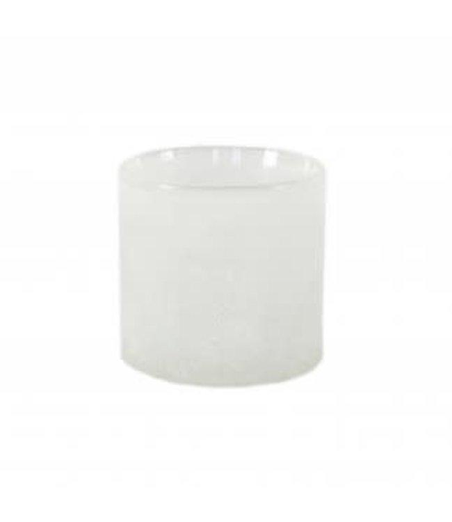 Frost candleholder - white