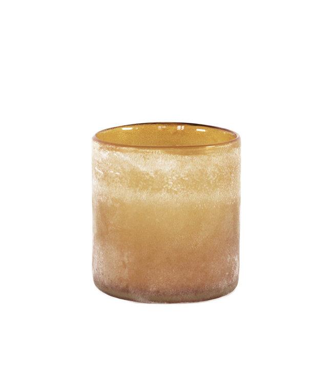 Frost windlicht - amber