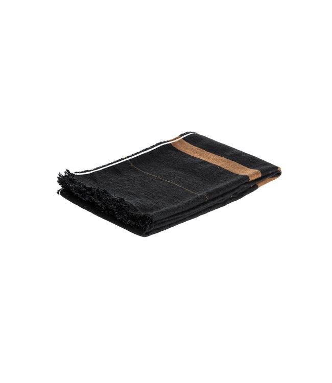 Libeco Oscar plaid - black stripe