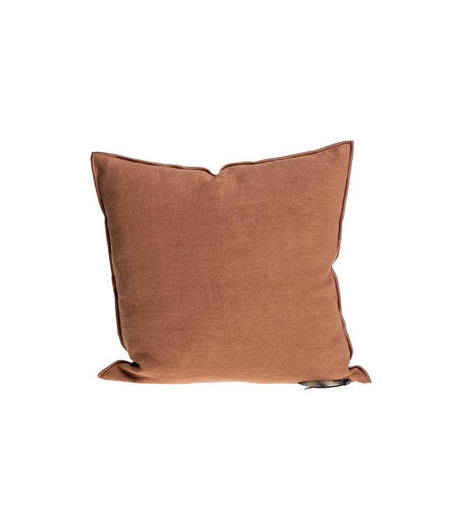 Maison de Vacances Cushion vice versa, stone washed linen - terracotta/bourdon terracotta