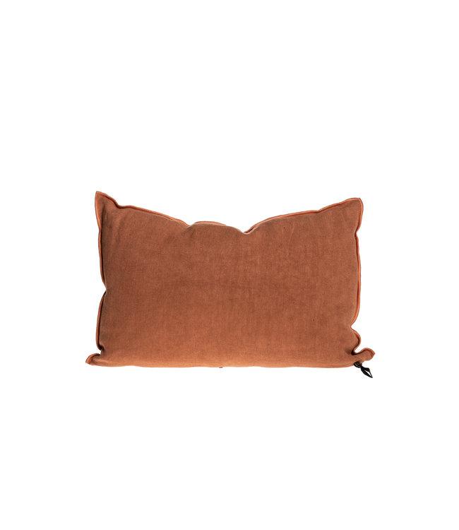 Maison de Vacances Cushion vice versa, stone washed linen - sienne/bourdon sienne