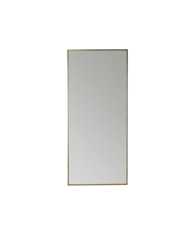 Spiegel metalen frame 180cm - honey/gold