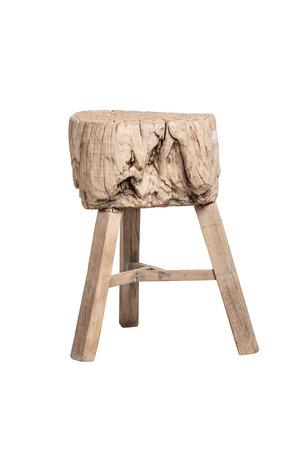 Robuuste kruk - tronk-  verweerd olmhout #16