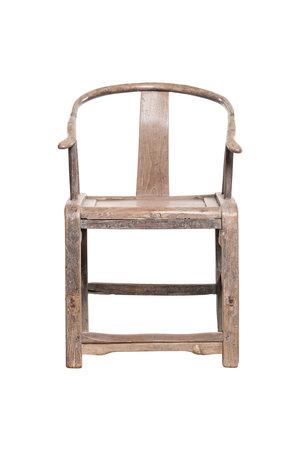 Vergrijsde 'horseshoe chair'