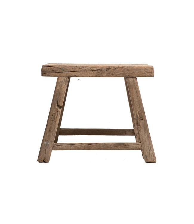 Old stool weathered elm wood #43