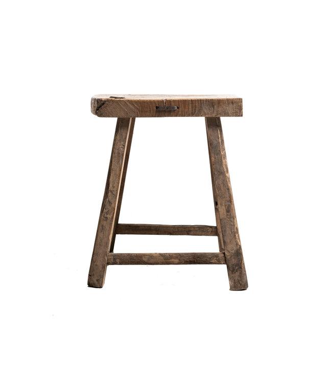 Old stool weathered elm wood #46
