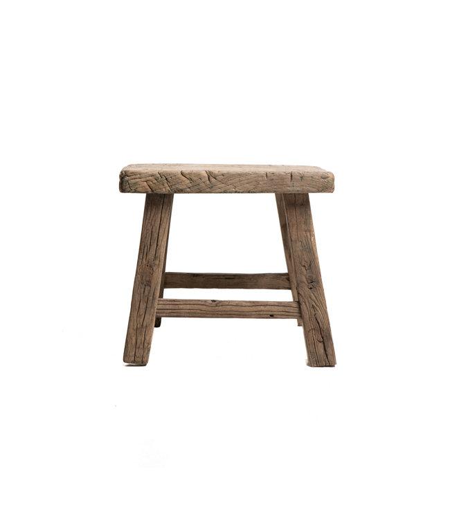 Old stool weathered elm wood #49