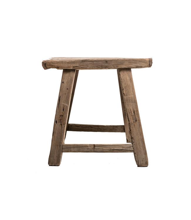 Old stool weathered elm wood #47