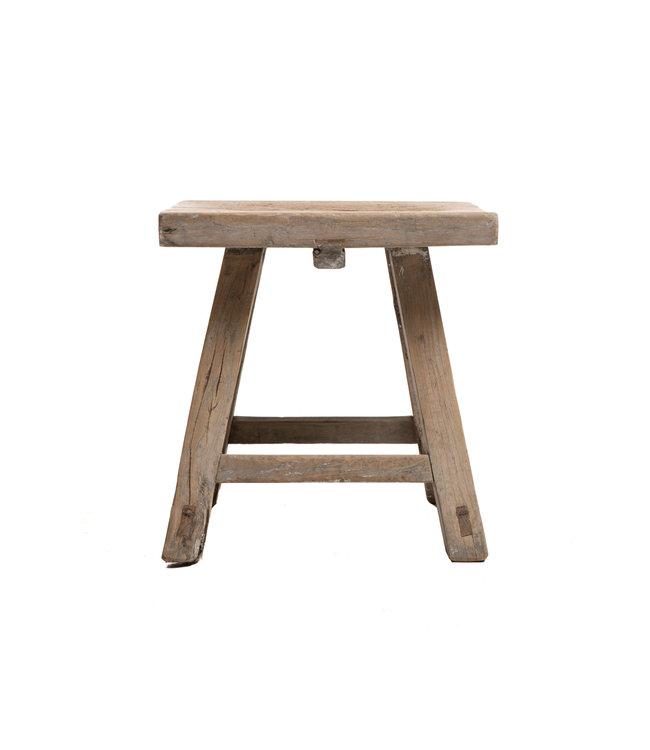 Old stool weathered elm wood #48