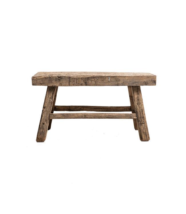 Old stool weathered elm wood #45