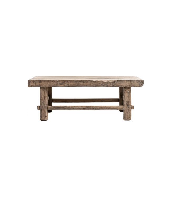 Small coffee table, elm wood