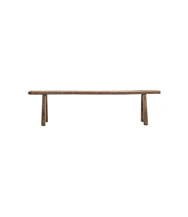 Long narrow bench, elm wood - 210cm