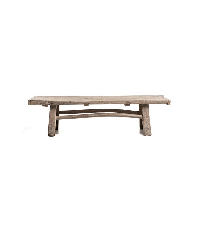 Coffee table weathered elm wood