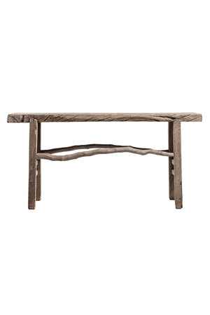 Sturdy side table, weathered elm wood, - 170cm