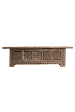 Sculpted bench with storage place