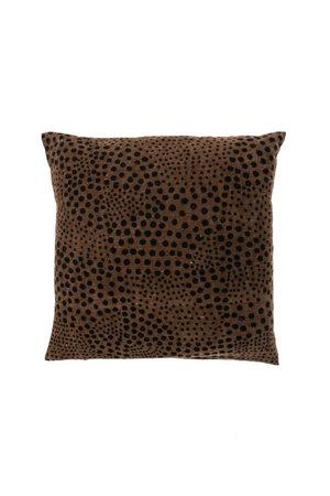 Bogolan cushion snow, brown/black #1