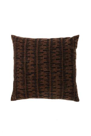 Bogolan cushion stripe, brown/black #4