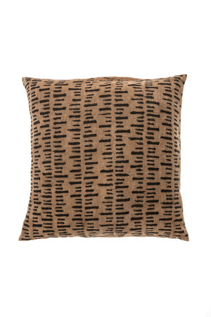 Bogolan cushion stripe, light brown/black #5