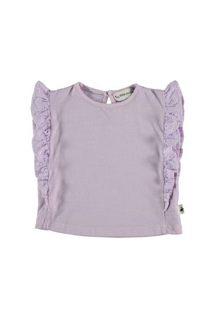 My little cozmo Embroidery baby t-shirt - mauve