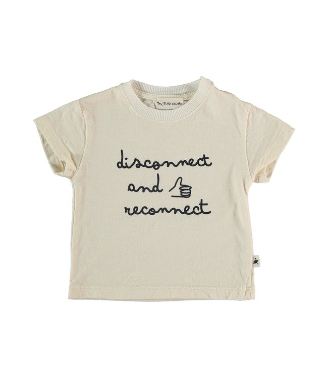 My little cozmo Organic flame baby t-shirt - ivory