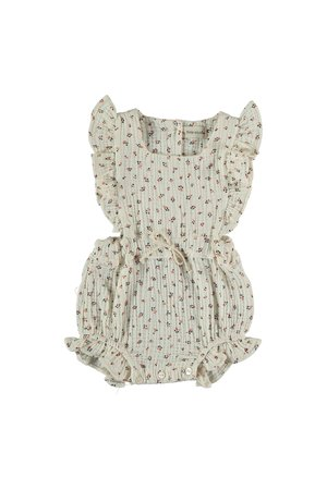 My little cozmo Organic liberty baby romper - ivory