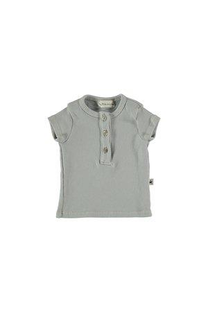 My little cozmo Organic rib baby t-shirt - light grey