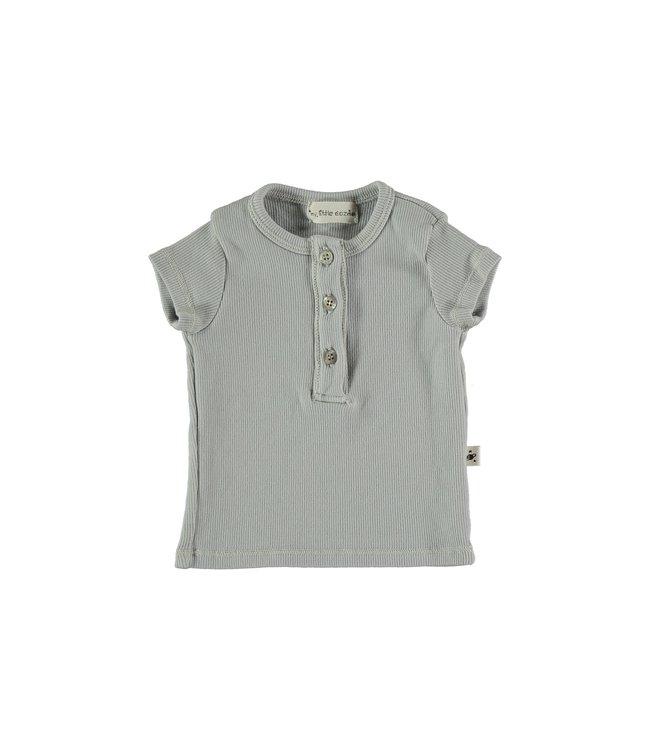 Organic rib baby t-shirt - light grey