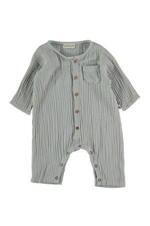 My little cozmo Organic bobble baby jumpsuit - lightgrey