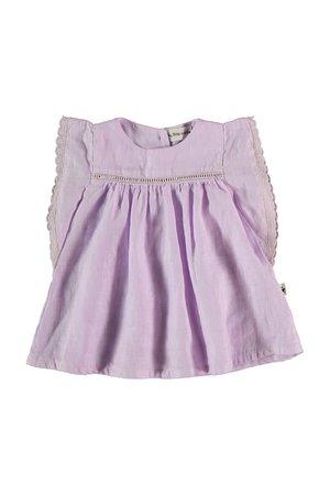 My little cozmo Linen baby dress - mauve