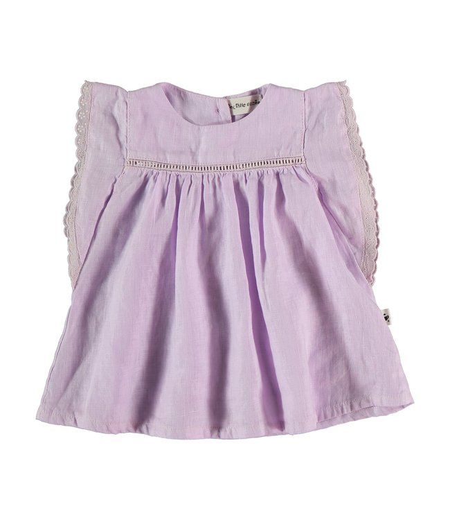 My little cozmo Linen baby dress - mauve