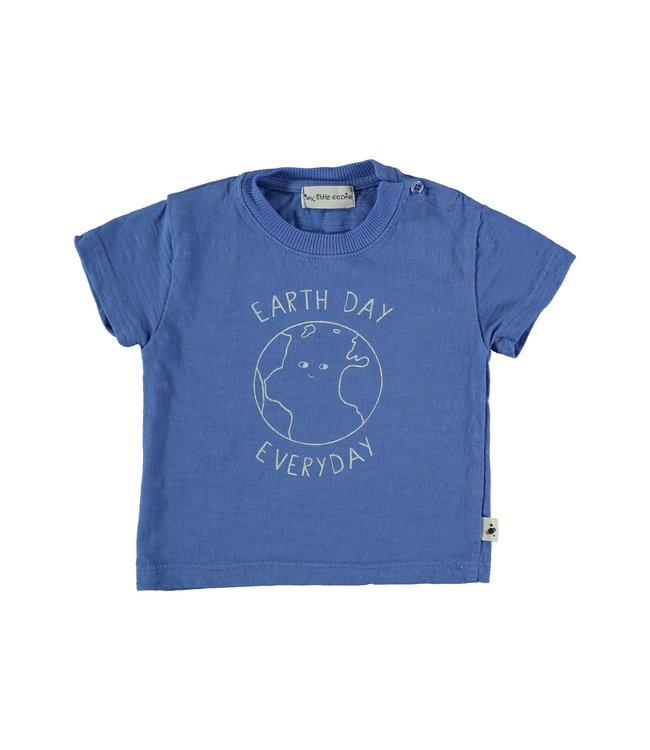 My little cozmo Organic flame baby t-shirt - royal blue