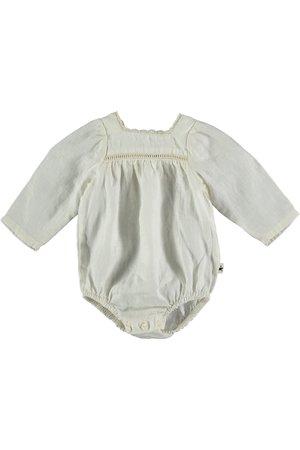 My little cozmo Linen baby romper - ivory