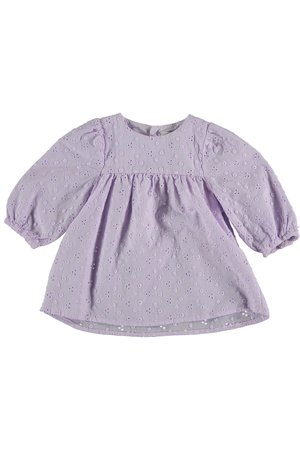 My little cozmo Embroidery baby dress - mauve