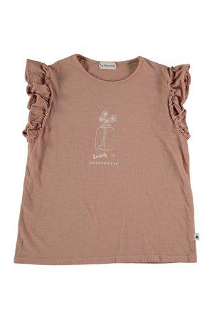 My little cozmo Organic flame kids t-shirt - terra cotta