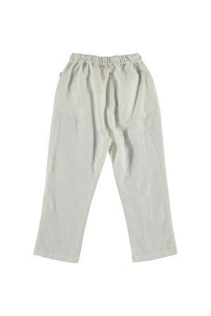 My little cozmo Linen cotton kids trousers - ivory