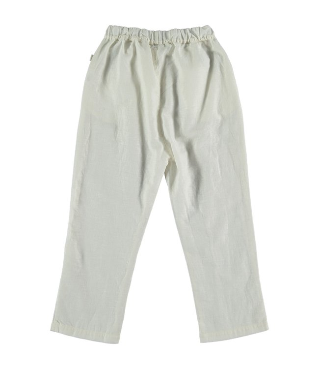 My little cozmo Linen cotton kids trousers - ivory