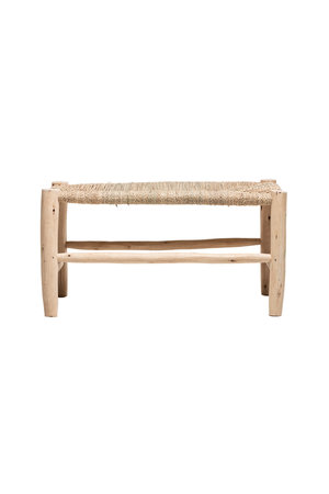 Couleur Locale Duo-seat bench in palm leaf-wood