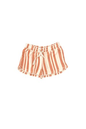 Long Live The Queen Shorts - orange stripe