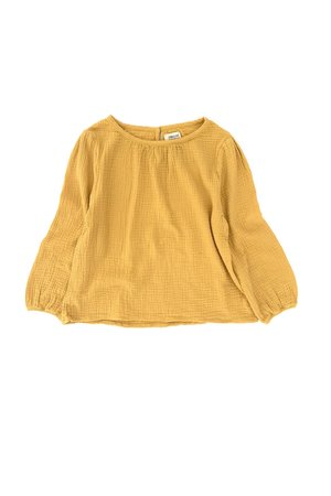 Long Live The Queen Crinkle blouse - dirty yellow